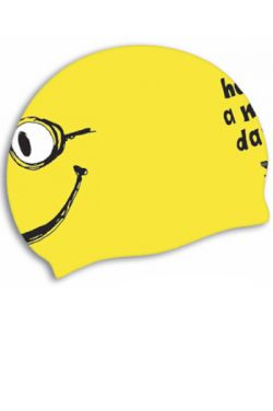 "TYR ""Have a nice day"" Smiley Silicone Swim Cap"