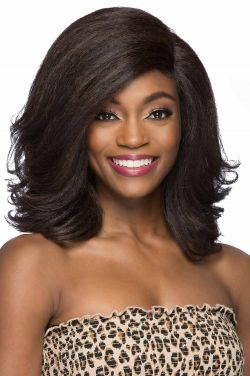 Uba by Vivica Fox Wigs - Heat Friendly Synthetic, Lace Front, Monofilament Part Wig