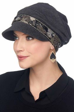 Uptown Slouchy Hat | Embellished 100% Organic Cotton Newsboy Cap