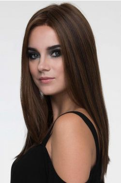 Veronica by Envy Wigs - Human/Heat Friendly Synthetic Hair Blend, Mono Top, Lace Front, Hand Tied Wig