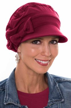 Versatility Newsboy Hat in Holiday Bordeaux | Made by Cardani in Luxury Viscose from Bamboo Luxury Bamboo - Bordeaux Luxury Bamboo - Bordeaux