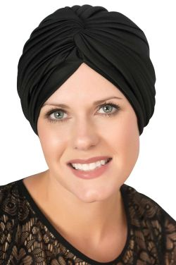 Vintage Pleated Polyester Turban