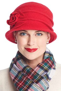 Wool Whitney Rose Cloche Hat | Winter Wool Hats for Women