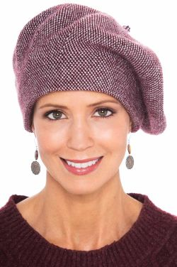 Two Tone Winter Wool Beret | Cute Winter Hats