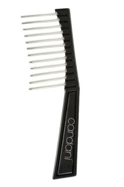 Cardani Wide Tooth Wig Comb | Metal Anti Static Wig Brush Pick |