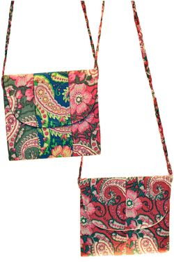 Noelle Cotton Purse in Woodblock Print