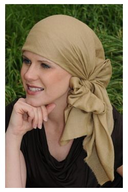 Solid Cashmere Head Scarf