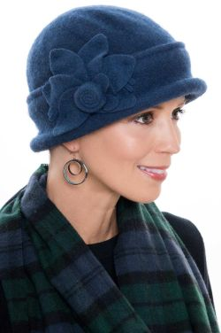 Wool Mina Flower Cloche Hat | Fall & Winter Hats for Women