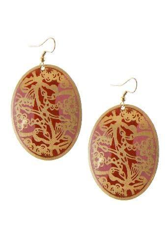 Rosa Enamel Drop Earrings | Nickel & Lead Free Earrings