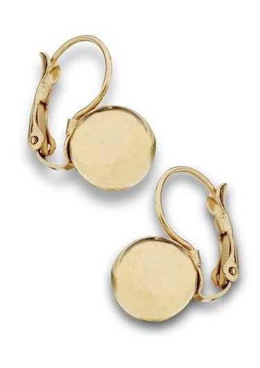 Surgical Steel Earrings | Gold Ball Drop Earrings