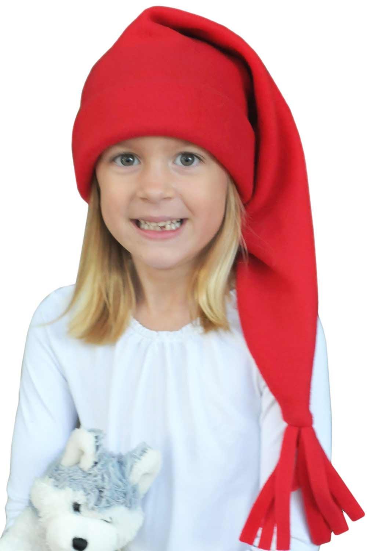 344e8cbea9aa5 Elf Santa Sleeping Cap - Sleep Hat Stocking Cap for Kids