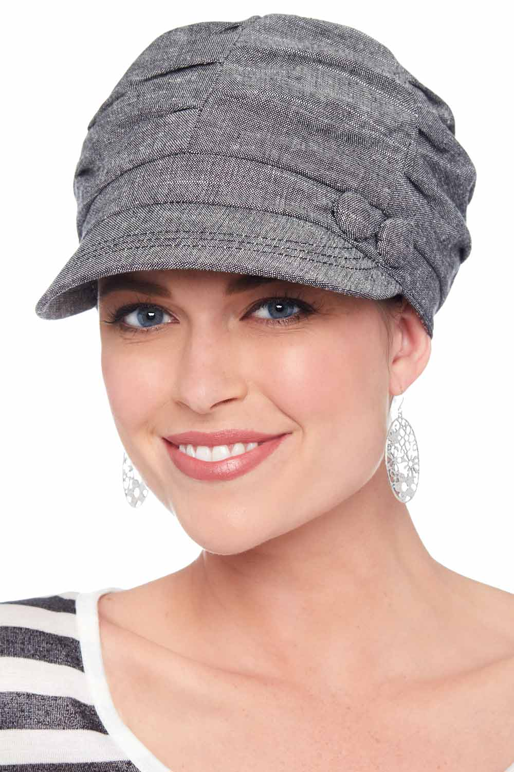 Gathered Button Newsboy Hats for Cancer Patients b1167142378d
