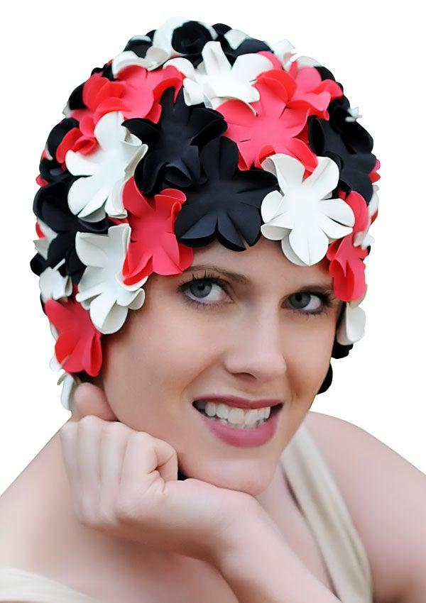 Retro Flower Swim Caps For Women Petal Bathing Caps Ebay