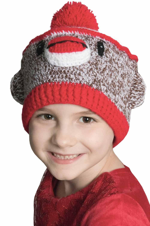 Sock Monkey Beanie for Kids 4d8b3566772