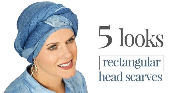 5 Ways to Tie a Rectangular Head Scarf