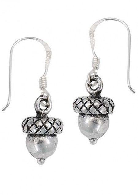 Sterling Silver Acorn Earrings