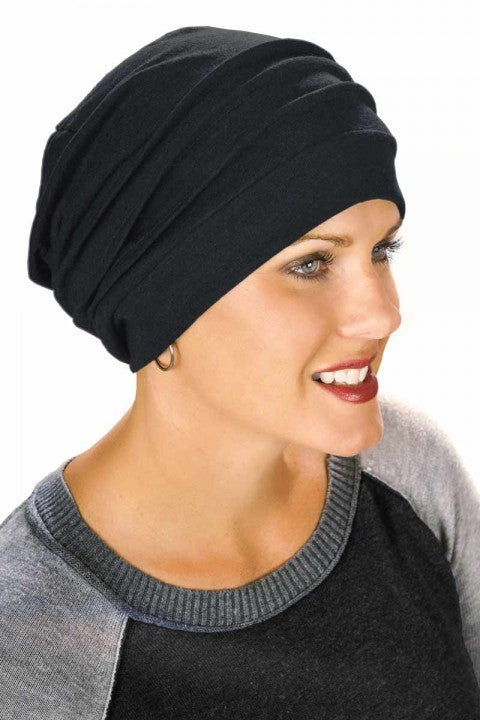 slouchy-snood-chemo-cap-cancer-hat-black