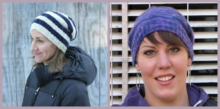 Hat knitting patterns for cancer patients.