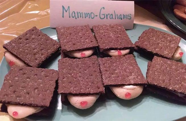 Breast cancer memes: mammo-grahams