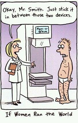Breast cancer memes: man-ogram