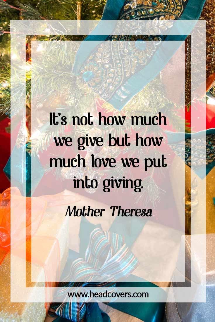 Inspirational Christmas quotes - Mother Theresa