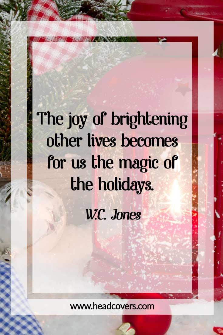 Inspirational Christmas quotes - W.C. Jones