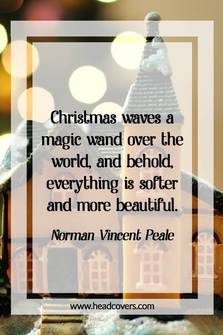 Inspirational Christmas quotes - Norman Vincent Peale