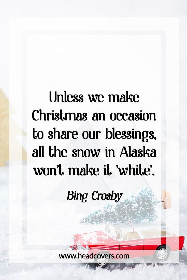 Inspirational Christmas Quotes - White Christmas Bing Crosby