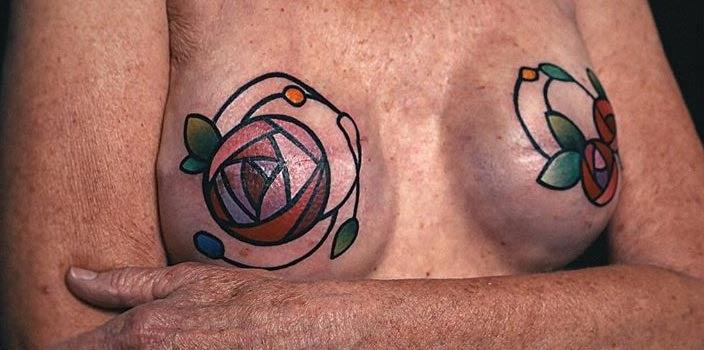 Art Deco Rose Mastectomy Tattoo - Austin J Evans