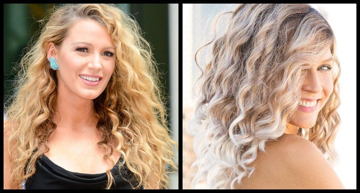 Blake Lively Curly Hairstyle Wig