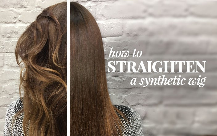 How to Straighten a Synthetic Wig