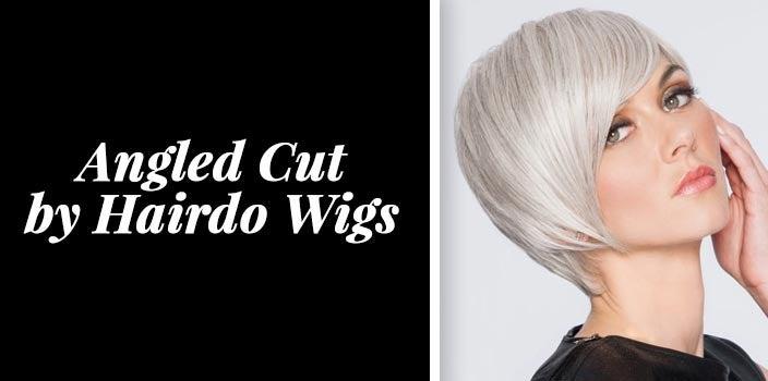 Sleek short haircut - Angled Cut by Hairdo Wigs