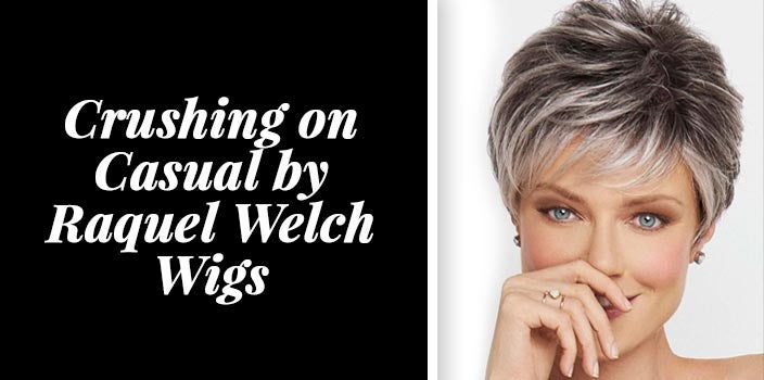 Cool grey wigs - Crushing on Casual by Raquel Welch Wigs