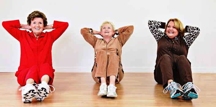 10 Tips - Exercise - three ladies exercising