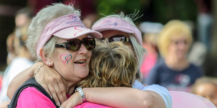 10 Tips - Support others - three ladies after breast cancer walk