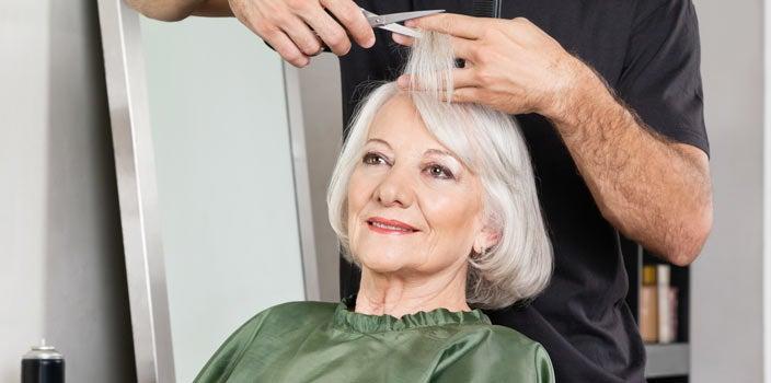 Thinning Hair - Woman gets her hair cut