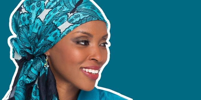Hide balding spots women - Wear a silk head scarf