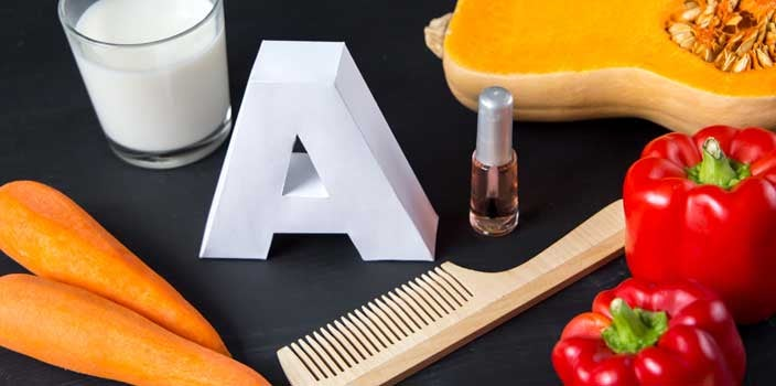 Vitamin deficiency causes hair loss: vitamin A
