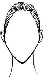 diamond face shape drawing