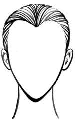 heart face shape drawing