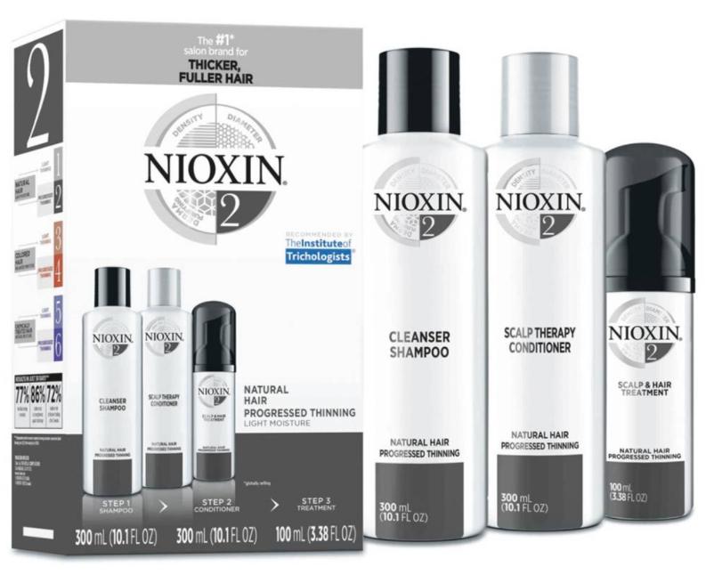 Nioxin system 2 hair regrowth treatment