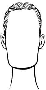 oblong face shape drawing
