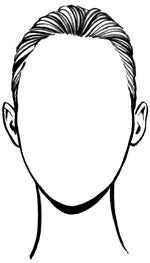 oval face shape drawing