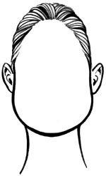 pear face shape drawing