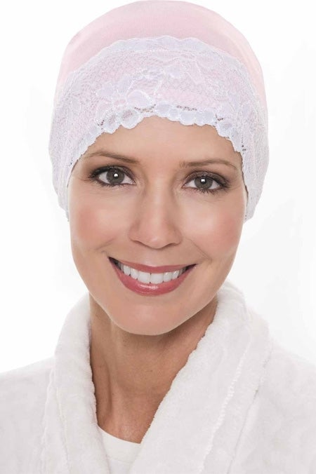Bamboo Lace Sleep Cap and Hat Liner