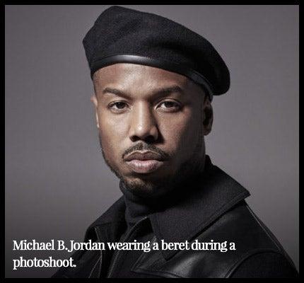 Michael Jordan wearing a beret.