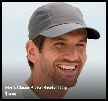 Men's Classic Active Baseball Cap.