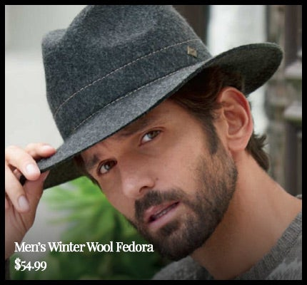 Men's Winter Wool Fedora