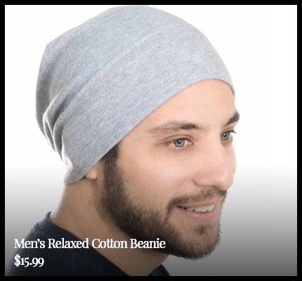 Men's Relaxed 100% Cotton Beanie