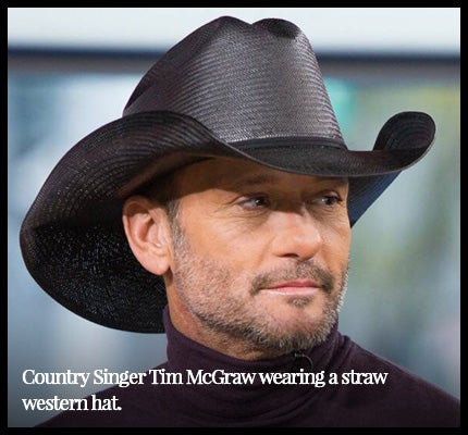 Tim McGraw wearing cowboy hat.